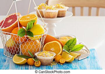 citrus, bakken, vruchten