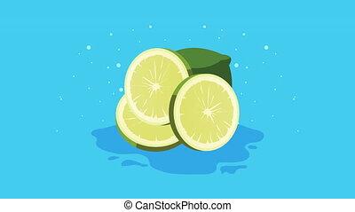citrus, tropische , citroen, verse vruchten