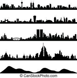 cityscape, stad skyline, vector