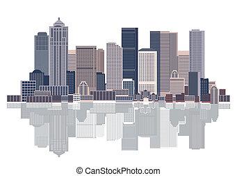 cityscape, stedelijke , achtergrond, kunst