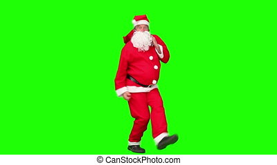 claus, dancing, kostuum, kerstman