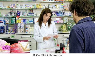 clien, geneeskunde, apotheker, geven