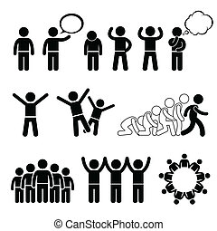cliparts, welzijn, kinderen, rechten