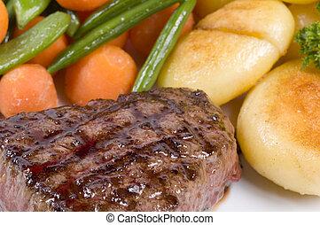close-up, biefstuk