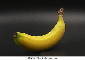 close-up, black , vrijstaand, enkel, banaan