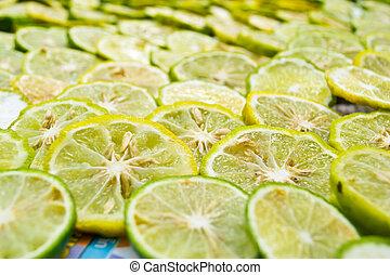 close-up, fruit, citroen snijdt