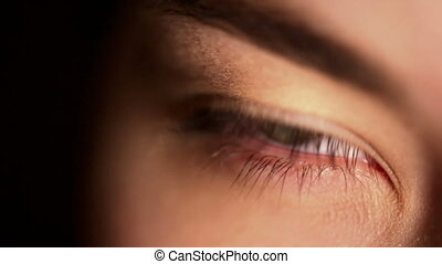 close-up, hd:, extreem, groen oog