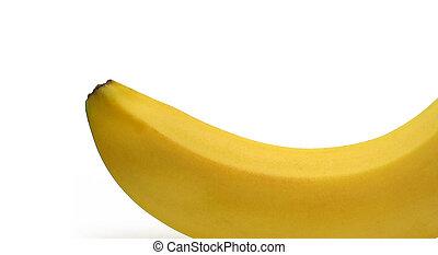 close-up, witte achtergrond, banaan