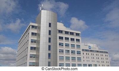 clouds., ziekenhuis, timelapse