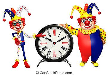 clown, klok