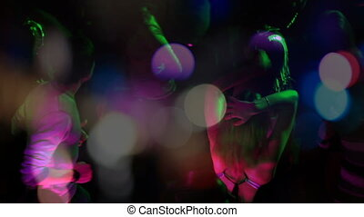 club., dans, opeenvolging