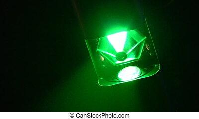 club, licht, systeem, nacht