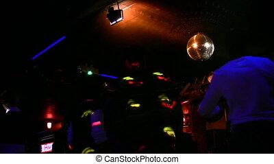 club, mensen, dancing, nacht