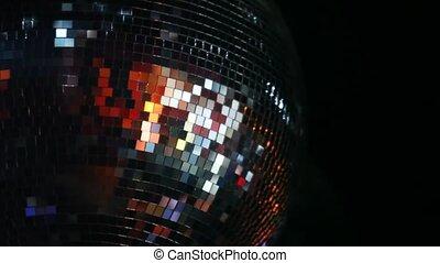 club, mirror-ball, radvormigen, plafond, nacht