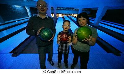 club, verblijf, gelul, gezin, bowling