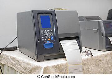 code, bar, printer