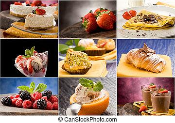 collage, dessert, -