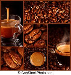 collage, koffie, espresso