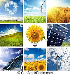 collage, nieuw, energie