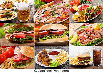 collage, voedingsmiddelen, vasten