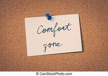 comfort, zone
