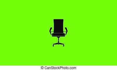 comfortabel, animatie, pictogram, stoel