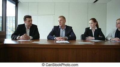commerciële vergadering, collectief, mensen