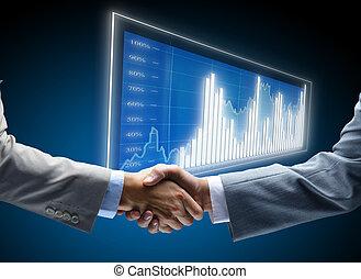 communicatie, diagram, zakelijk, achtergrond, concepten, beroep, vrienden, vriendelijk, collectief, overeenkomst, vriendschap, zakenman, kans, delen, black , handel, begin, display, donker, financiën