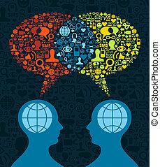 communicatie, sociaal, hersenen, media