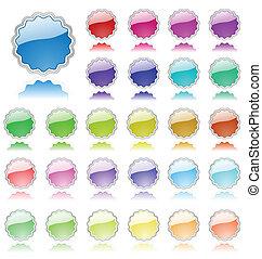 communie, gekleurde, verzameling