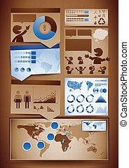 communie, ontwerp, infographics