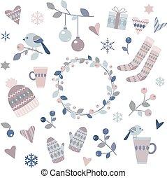 communie, ontwerp, winter