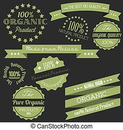 communie, oud, organisch, ouderwetse , vector, retro, items, natuurlijke
