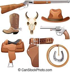 communie, set, cowboy