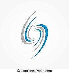 communie, spiraal, logo, swirls, ontwerp