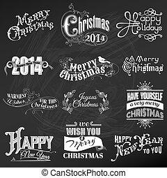 communie, versiering, calligraphic, vector, ontwerp, ouderwetse , lijstjes, kerstmis, set:, pagina