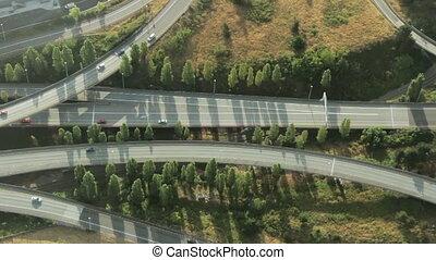 complex, aftakking, snelweg