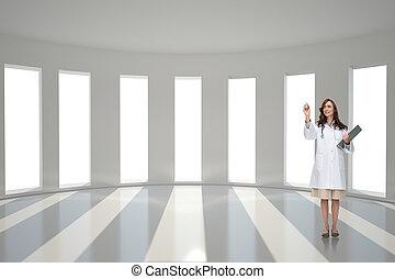 composiet, arts, het glimlachen, beeld, wijzende