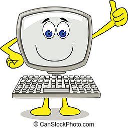 computer, spotprent