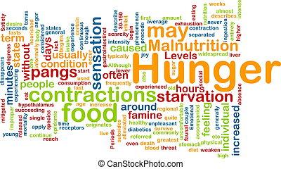 concept, achtergrond, honger