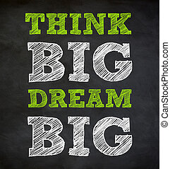 concept, groot, -, geschreven, droom, denken