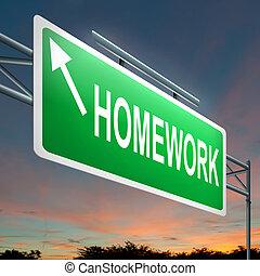 concept., huiswerk