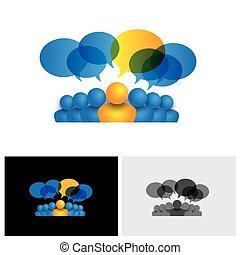 concept, kantoor, &, of, directeur, vector, bewindvoering, personeel, leider, pictogram