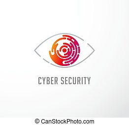 concept, logo, technologie, oog, pictogram