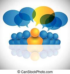concept, staff., kantoor, &, of, directeur, bewindvoering, leider