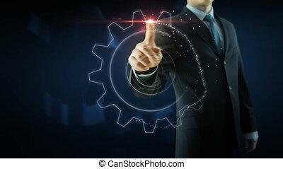 concept, tandwiel, zakelijk, tekst, werken, succes, team, rood, man