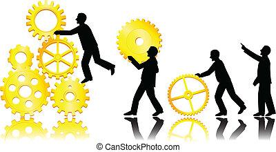concept, teamwork