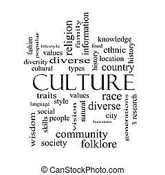 concept, woord, cultuur, black , witte wolk