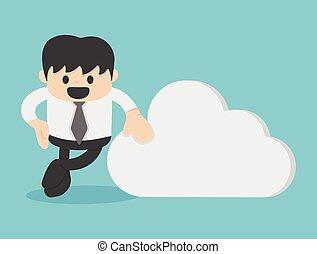 concept, zakelijk, wolk, gegevensverwerking