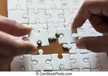 concept, zakenlui, zoekplaatje, montage, teamwork